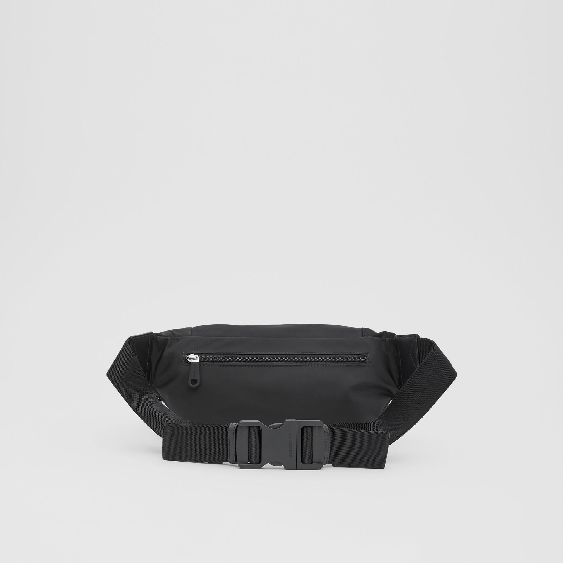 Logo Detail ECONYL® Sonny Bum Bag in Black - Men | Burberry United Kingdom - gallery image 9