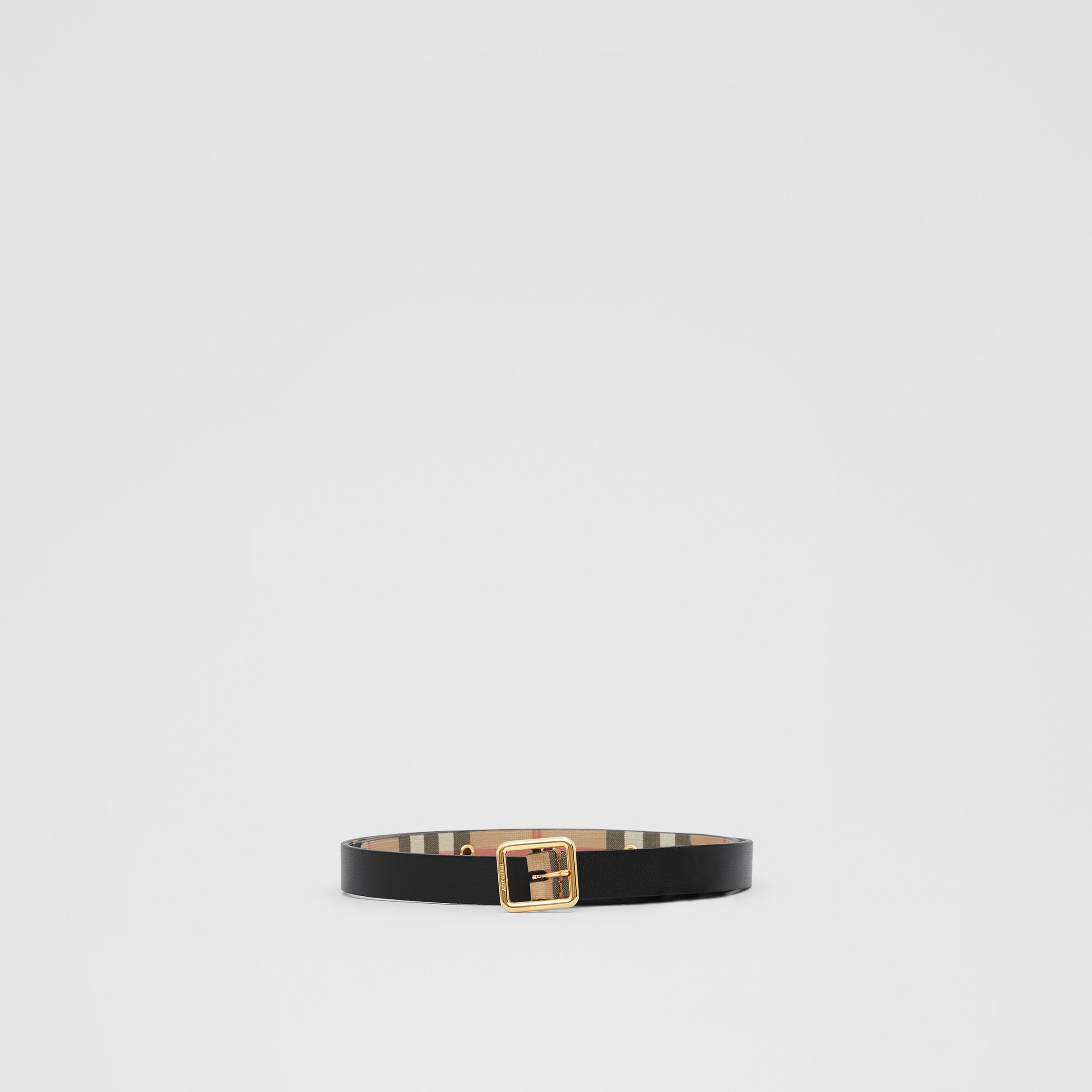 D-ring Detail Vintage Check E-canvas Belt in Black - Children | Burberry - 3