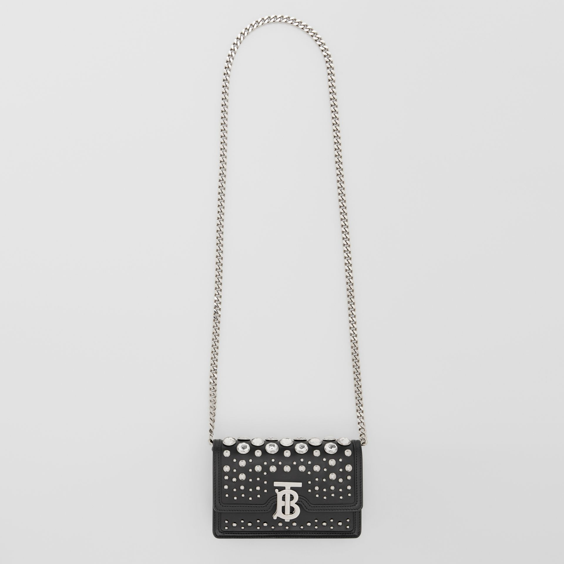 Mini Embellished Leather Shoulder Bag in Black - Women | Burberry - gallery image 3