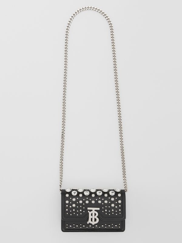 Mini Embellished Leather Shoulder Bag in Black - Women | Burberry - cell image 3