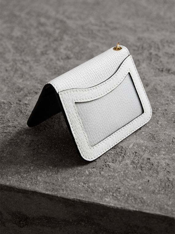 Pallas Helmet Motif Leather ID Card Case in Black - Women | Burberry - cell image 2