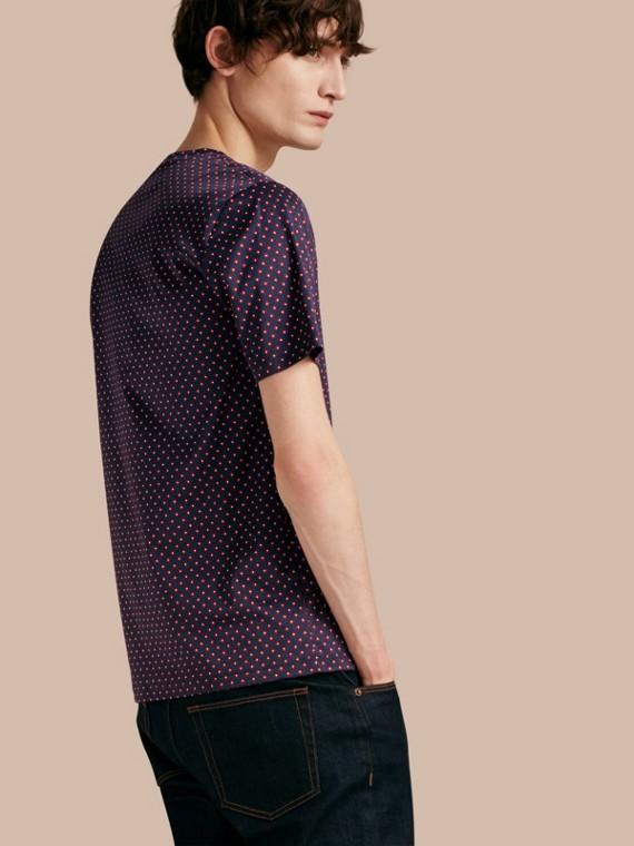 Camiseta en algodón con estampado geométrico