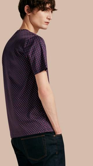Geometric Print Cotton T-Shirt