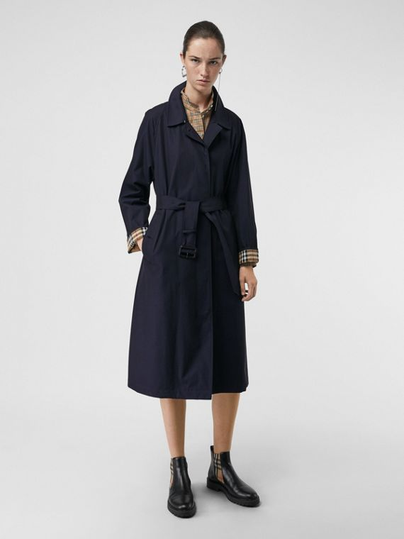 The Brighton Car Coat (Blu Carbonio)