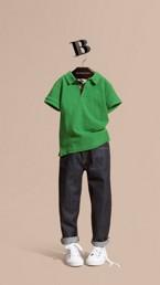 Check Placket Polo Shirt