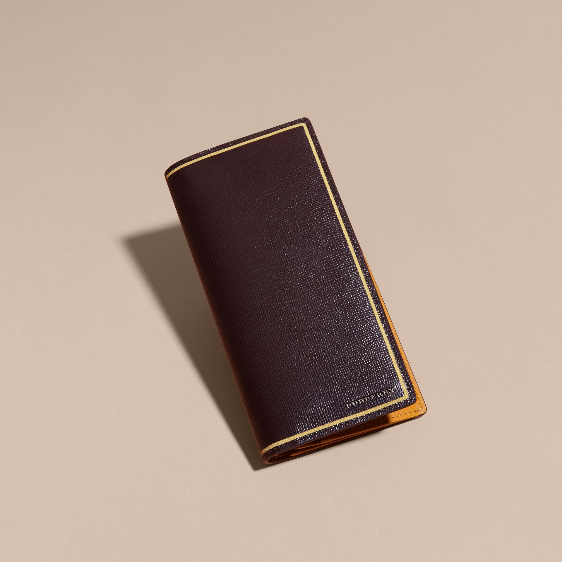 Peppercorn Border Detail London Leather Continental Wallet Peppercorn - gallery image 4