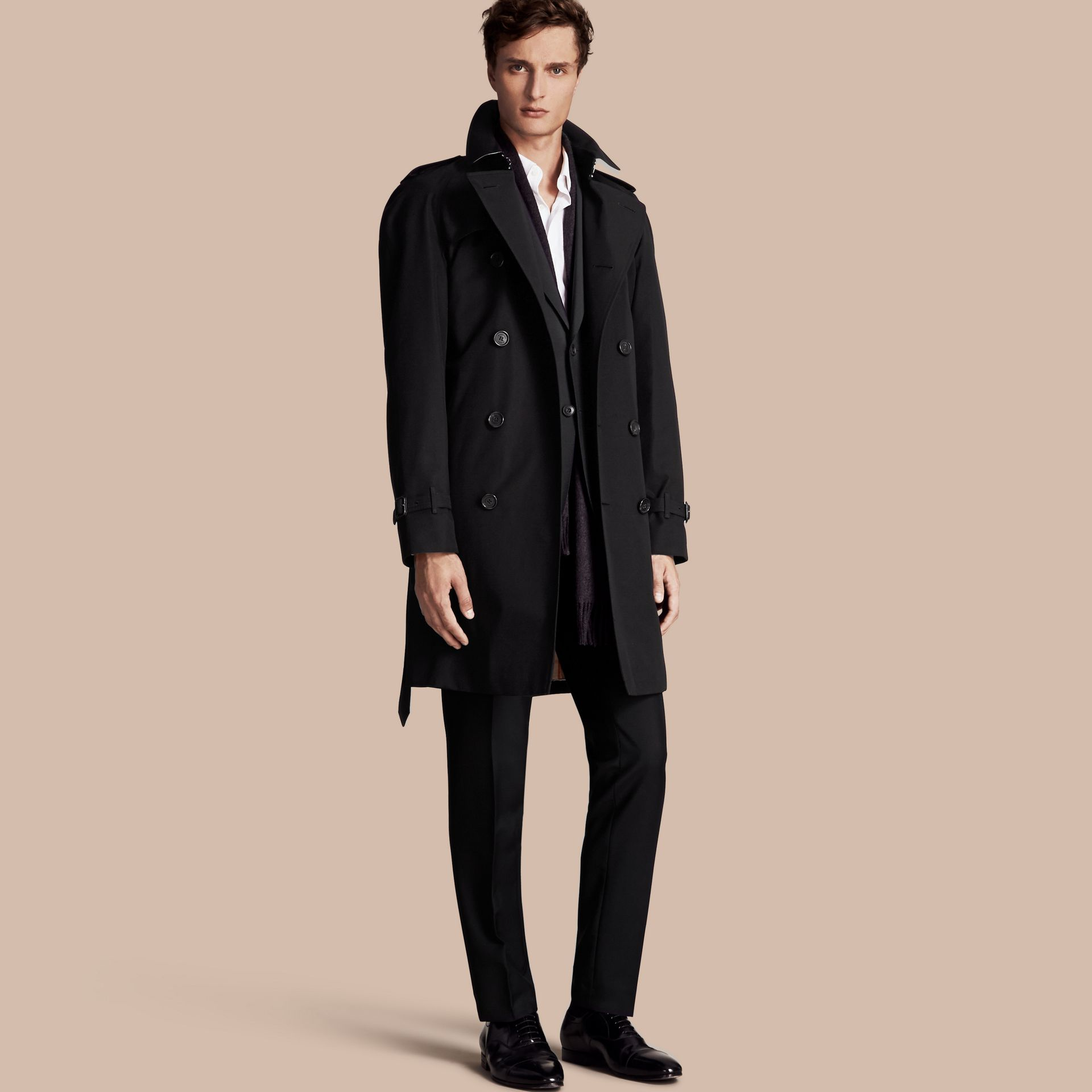 Black The Wiltshire – Long Heritage Trench Coat Black - gallery image 1