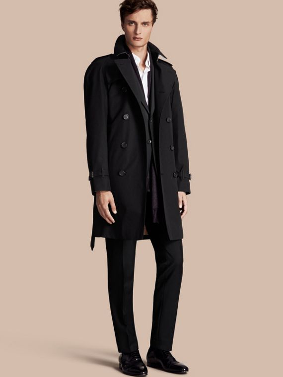 The Wiltshire – Long Heritage Trench Coat Black