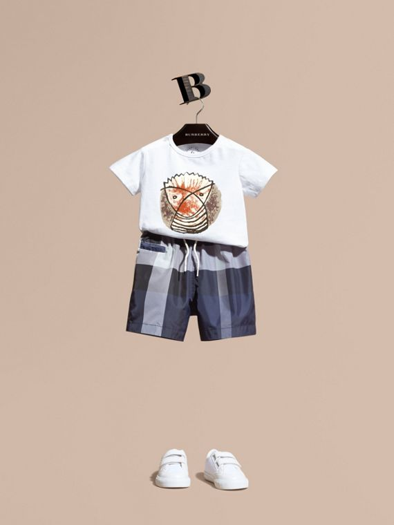 Check Technical Swim Shorts | Burberry Singapore
