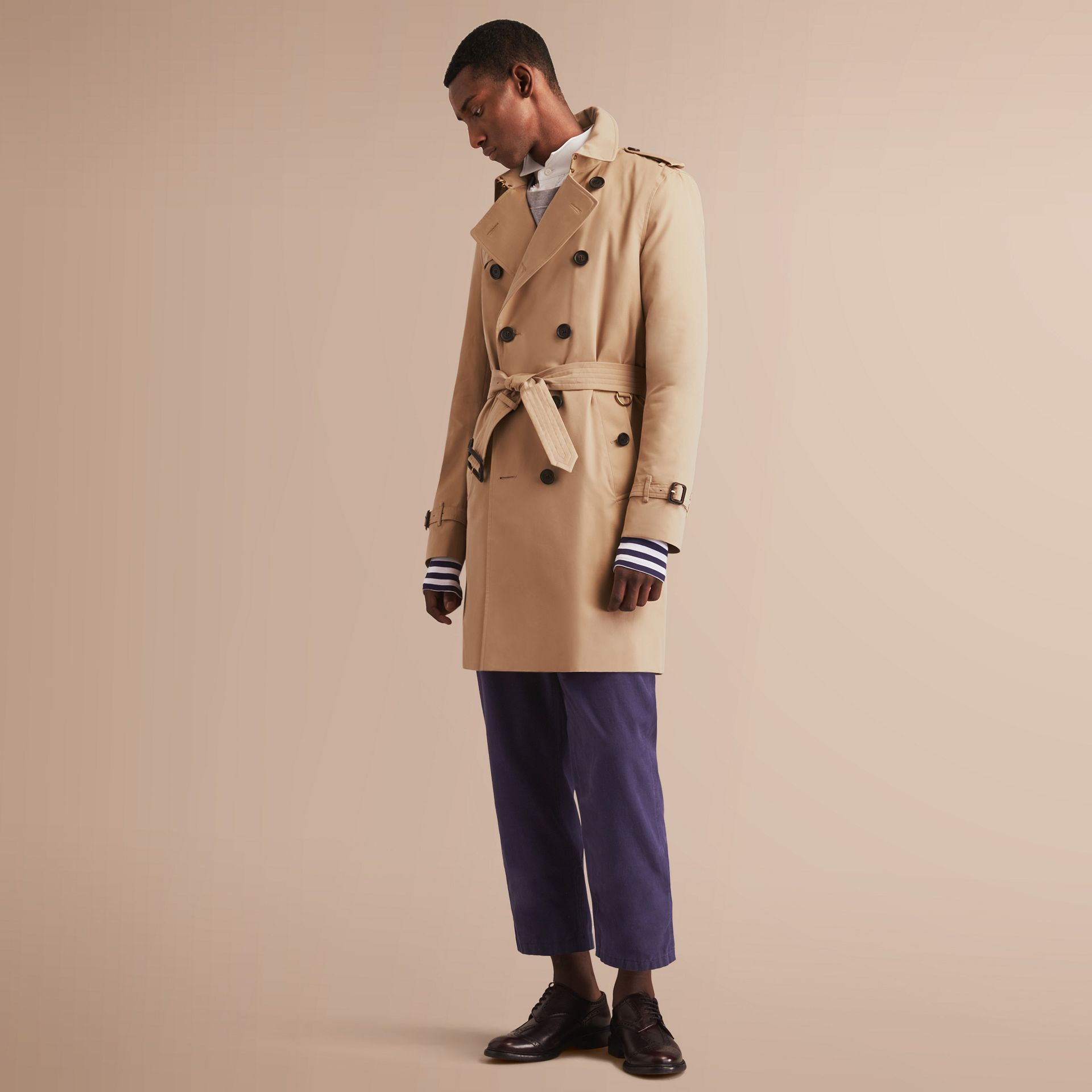 The Kensington – Long Heritage Trench Coat in Honey - gallery image 8