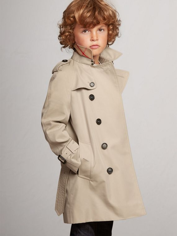 The Wiltshire – Heritage Trench Coat in Stone - Boy | Burberry Canada - cell image 2