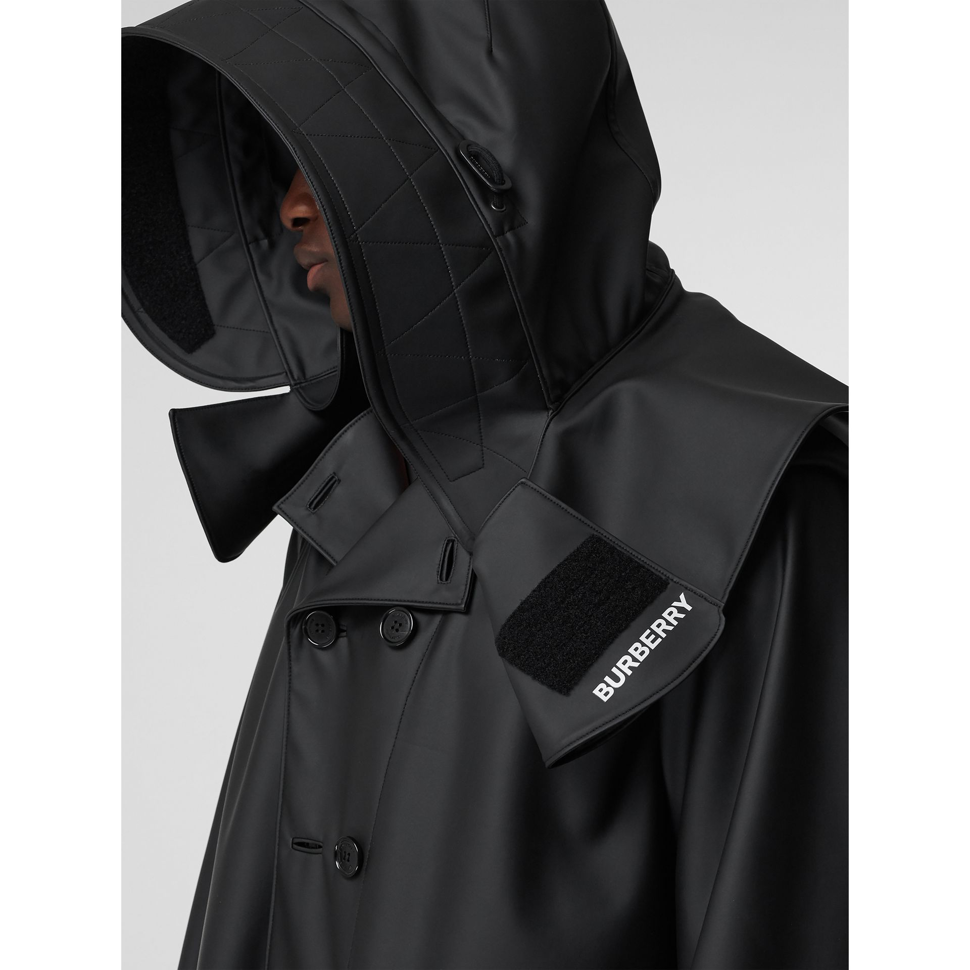 Structured Hood Scuba Parka in Black - Men | Burberry Australia - gallery image 2