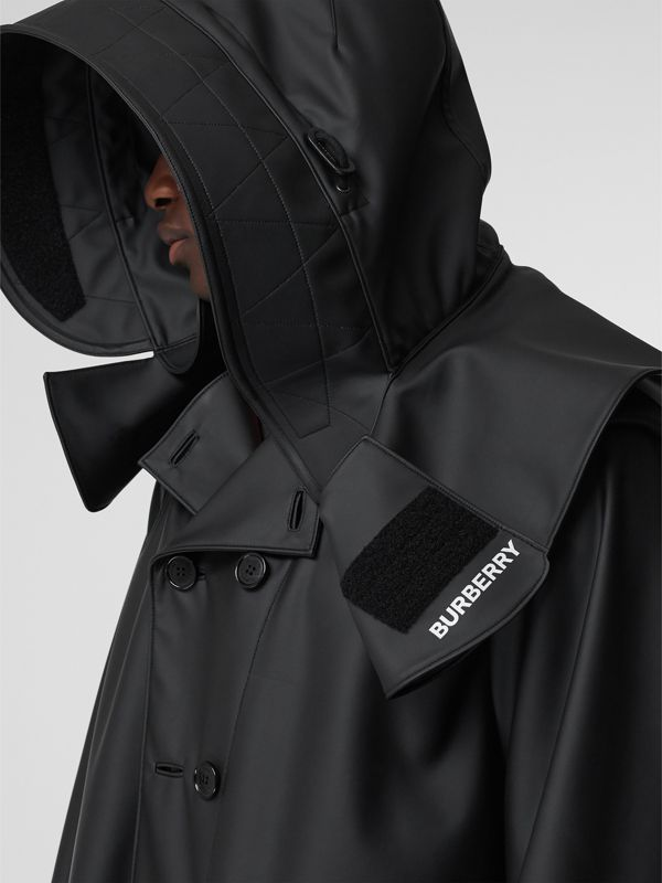 Structured Hood Scuba Parka in Black - Men | Burberry Australia - cell image 2