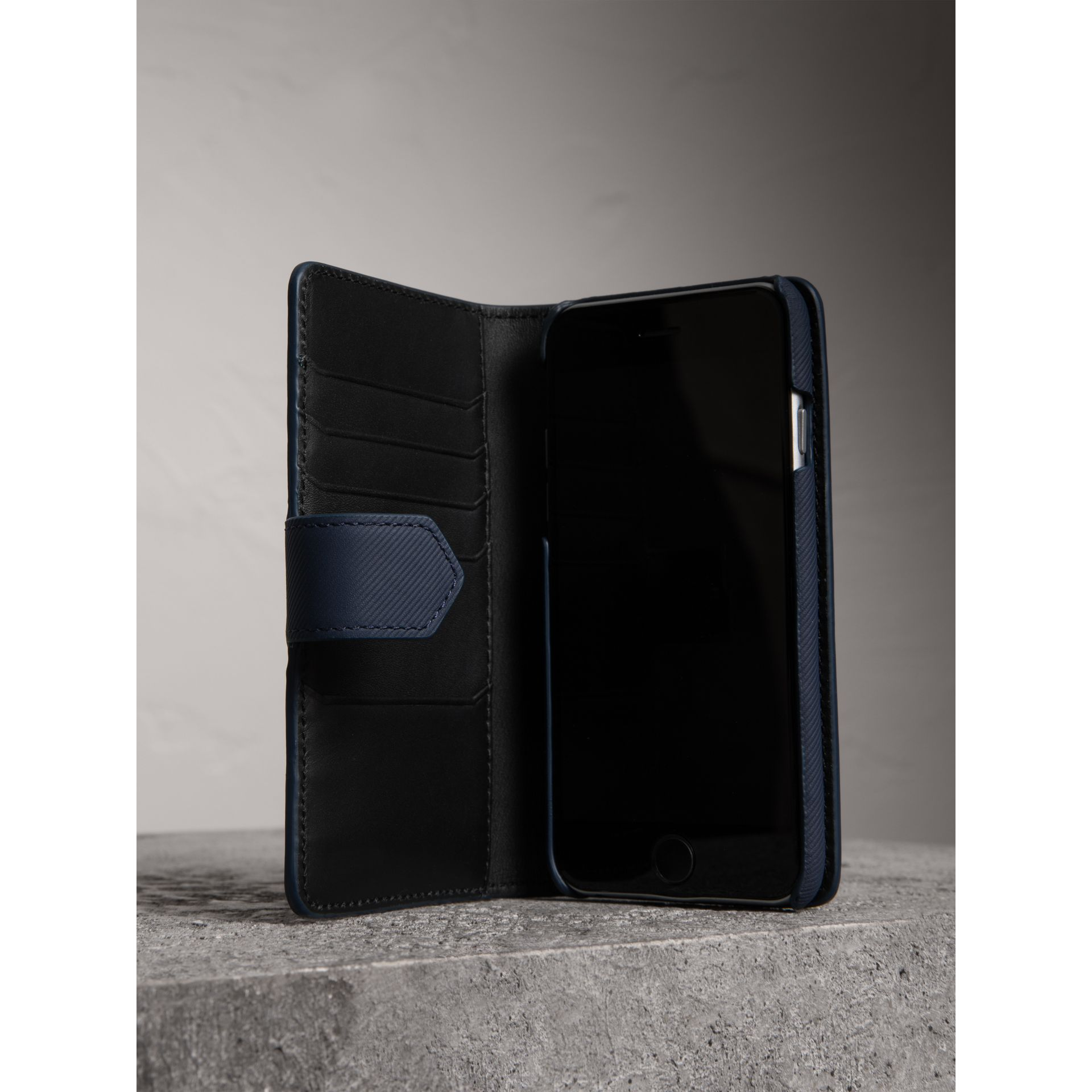Trench Leather iPhone 7 Case in Ink Blue - Men | Burberry - gallery image 3