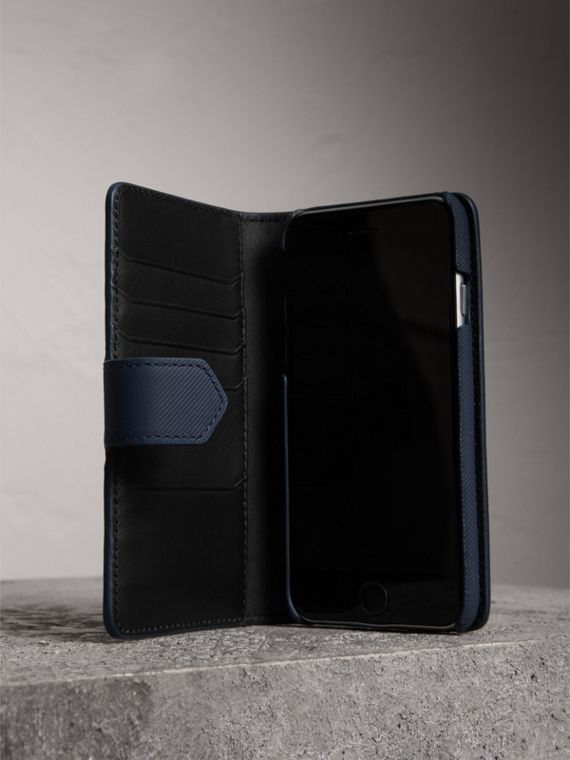 Trench Leather iPhone 7 Case in Ink Blue - Men | Burberry - cell image 3