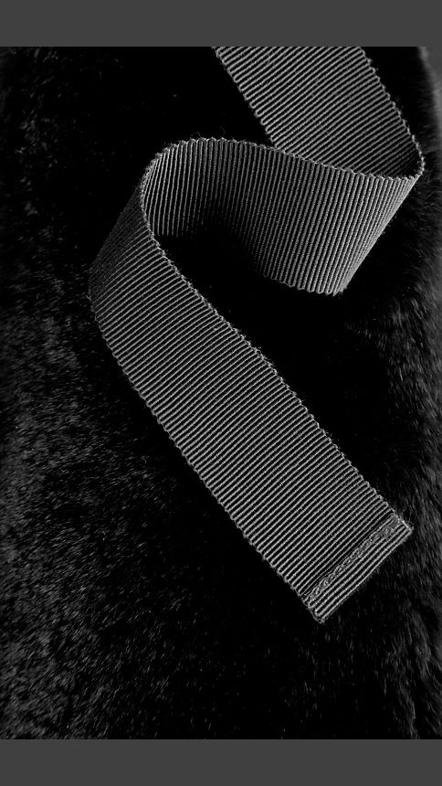 Black Rabbit Fur Collar - Image 3
