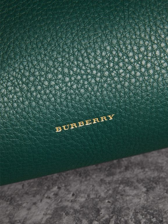 The Leather Barrel Bag in Dark Cyan - Women | Burberry United States - cell image 1