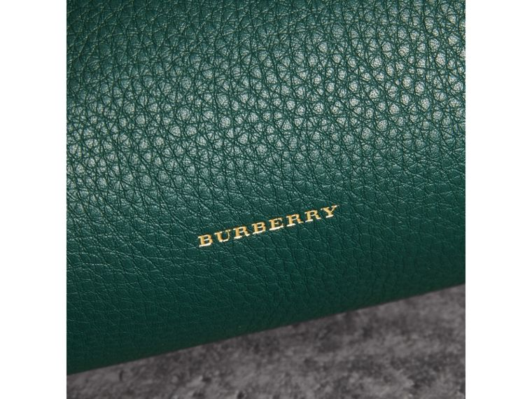 The Leather Barrel Bag in Dark Cyan - Women | Burberry - cell image 1