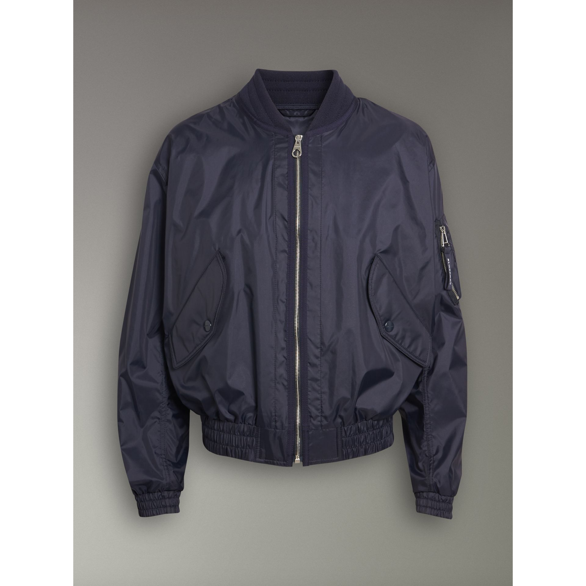 Lightweight Showerproof Bomber Jacket in Navy - Men | Burberry United Kingdom - gallery image 3