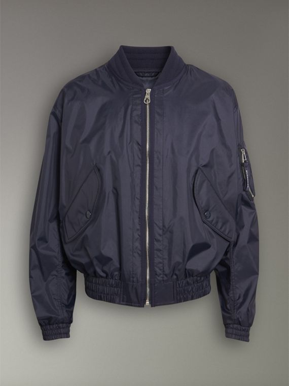 Lightweight Showerproof Bomber Jacket in Navy - Men | Burberry - cell image 3