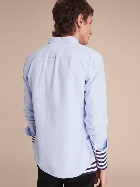 Cotton Oxford Shirt in Pale Blue - cell image 2