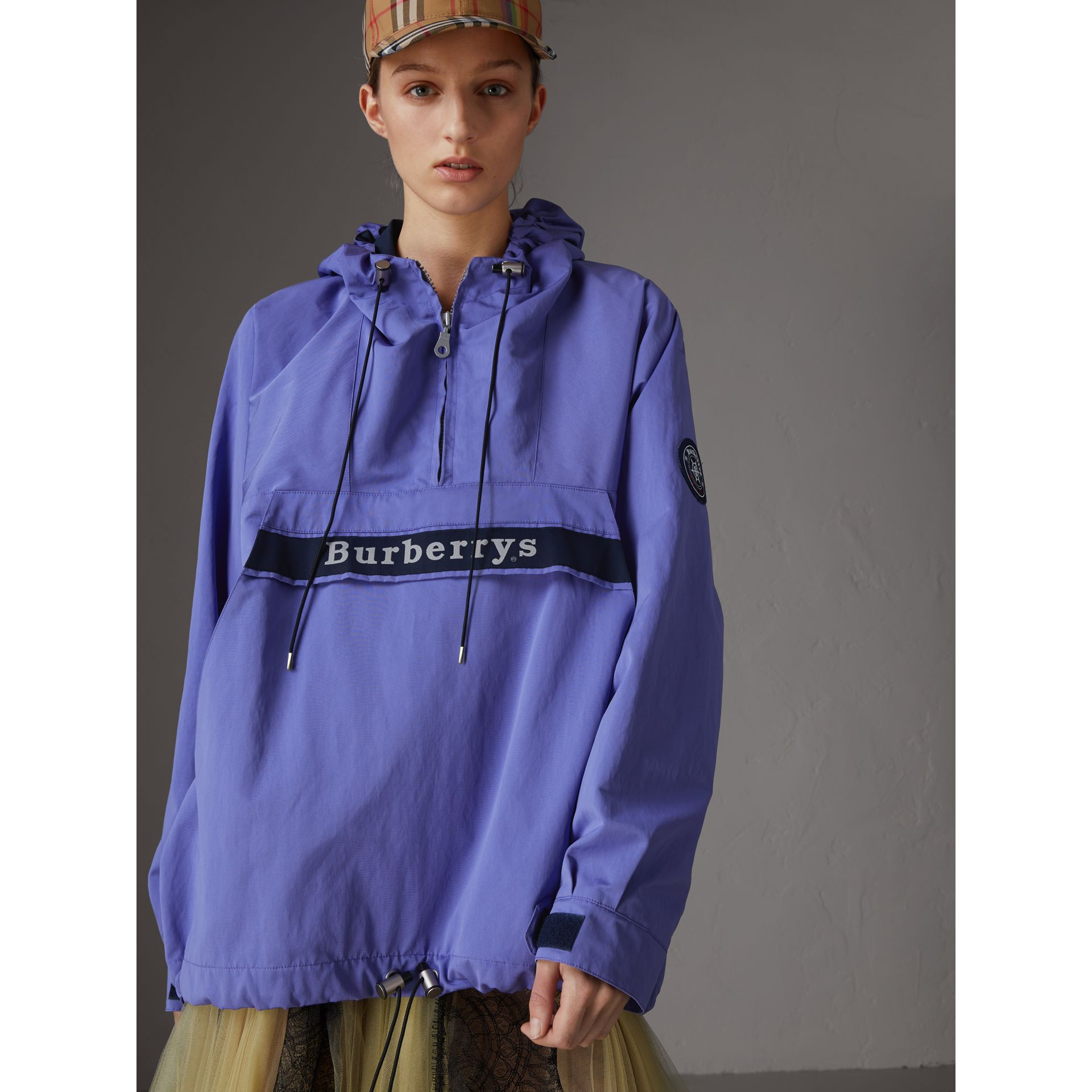 Reissued Hooded Anorak in Purple - Women | Burberry Canada - gallery image 5