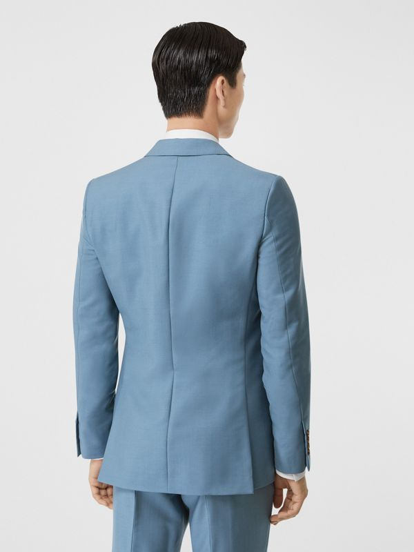 English Fit Wool Mohair Tailored Jacket in Steel Blue - Men | Burberry United Kingdom - cell image 2