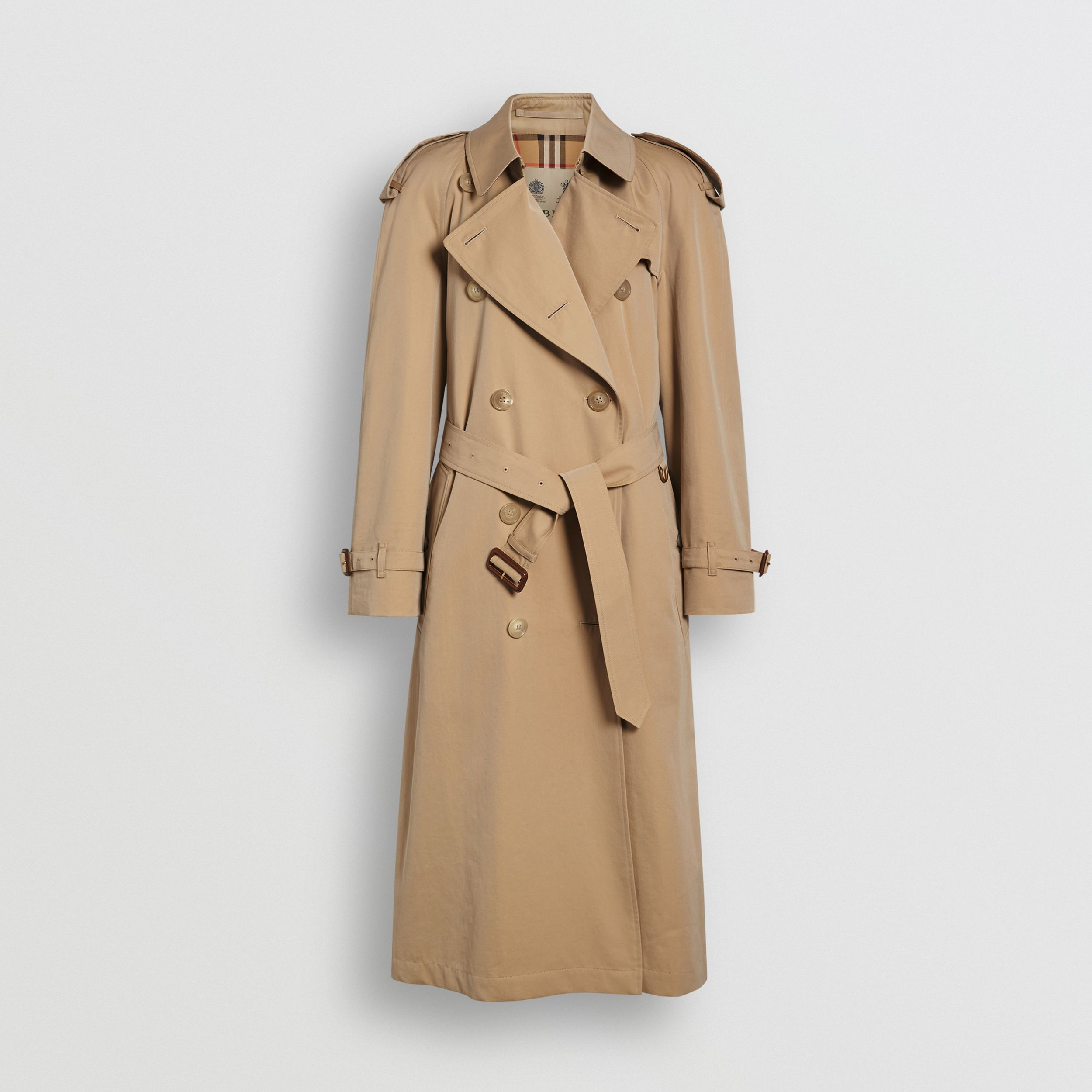 The Long Westminster Heritage Trench Coat in Honey - Women | Burberry - 4