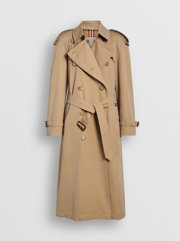 The Long Westminster Heritage Trench Coat in Honey - Women | Burberry United Kingdom - cell image 3