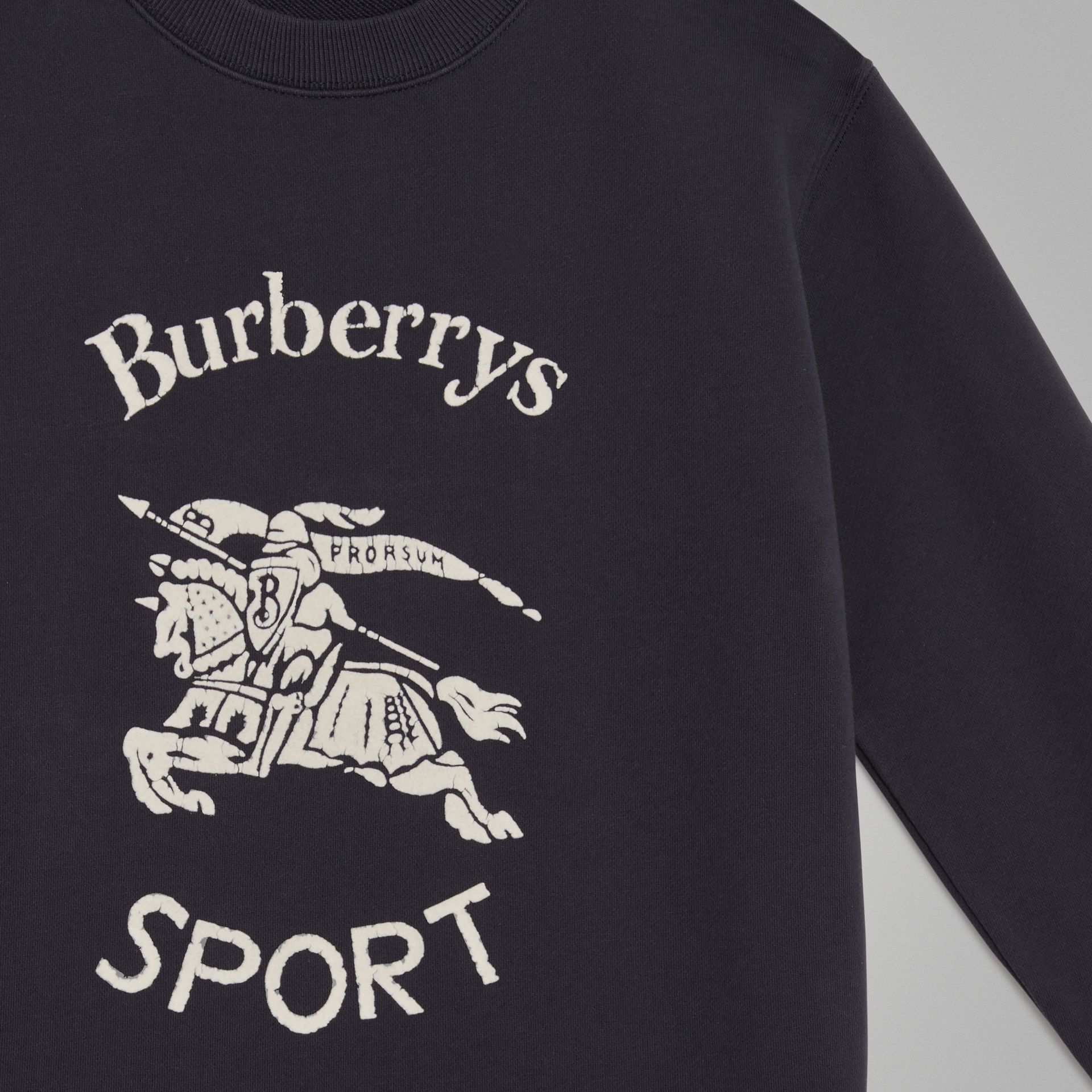 Sweat-shirt en coton avec logo d'archive (Marine Clair) | Burberry Canada - photo de la galerie 4