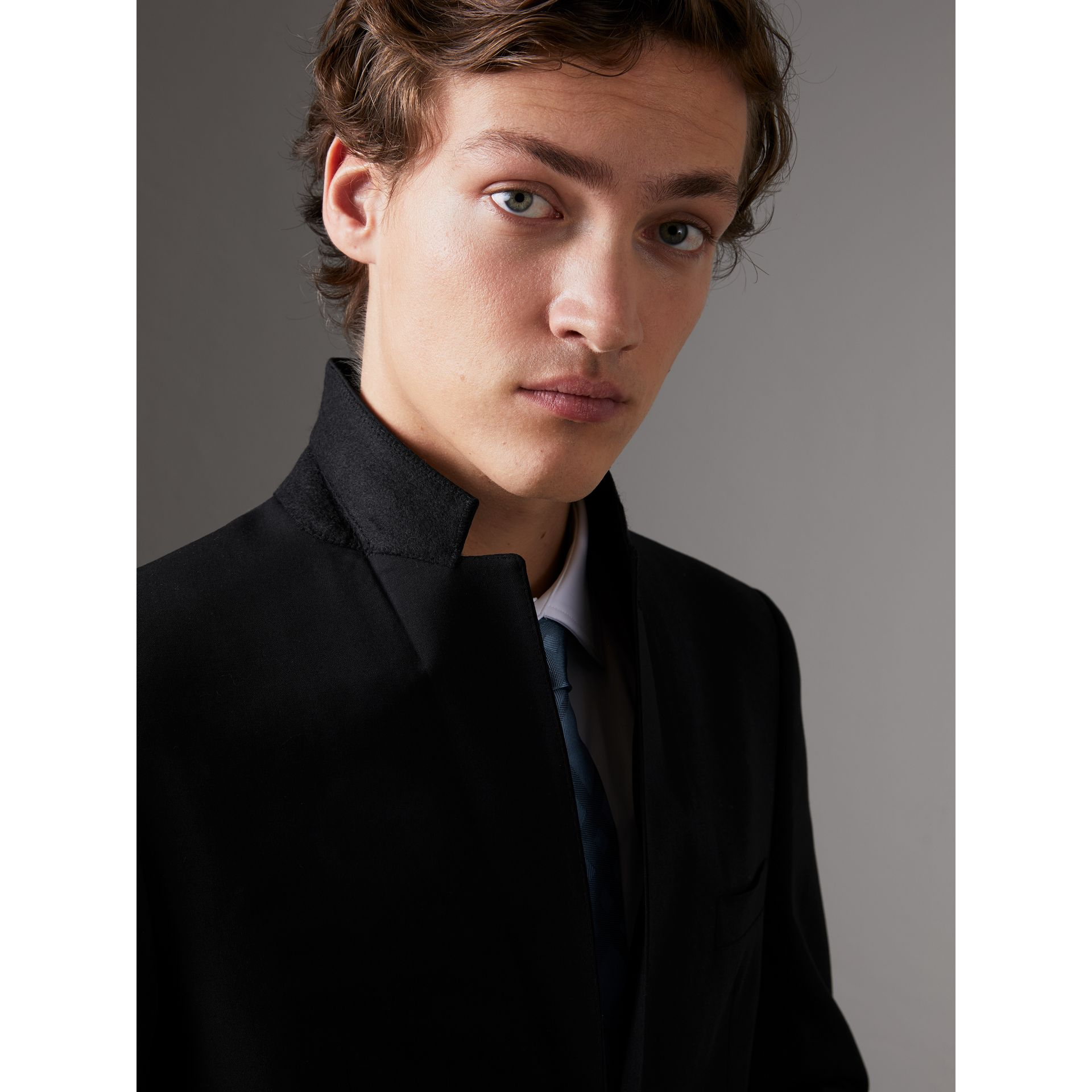 Slim Fit Wool Part-canvas Suit in Black - Men | Burberry - gallery image 5