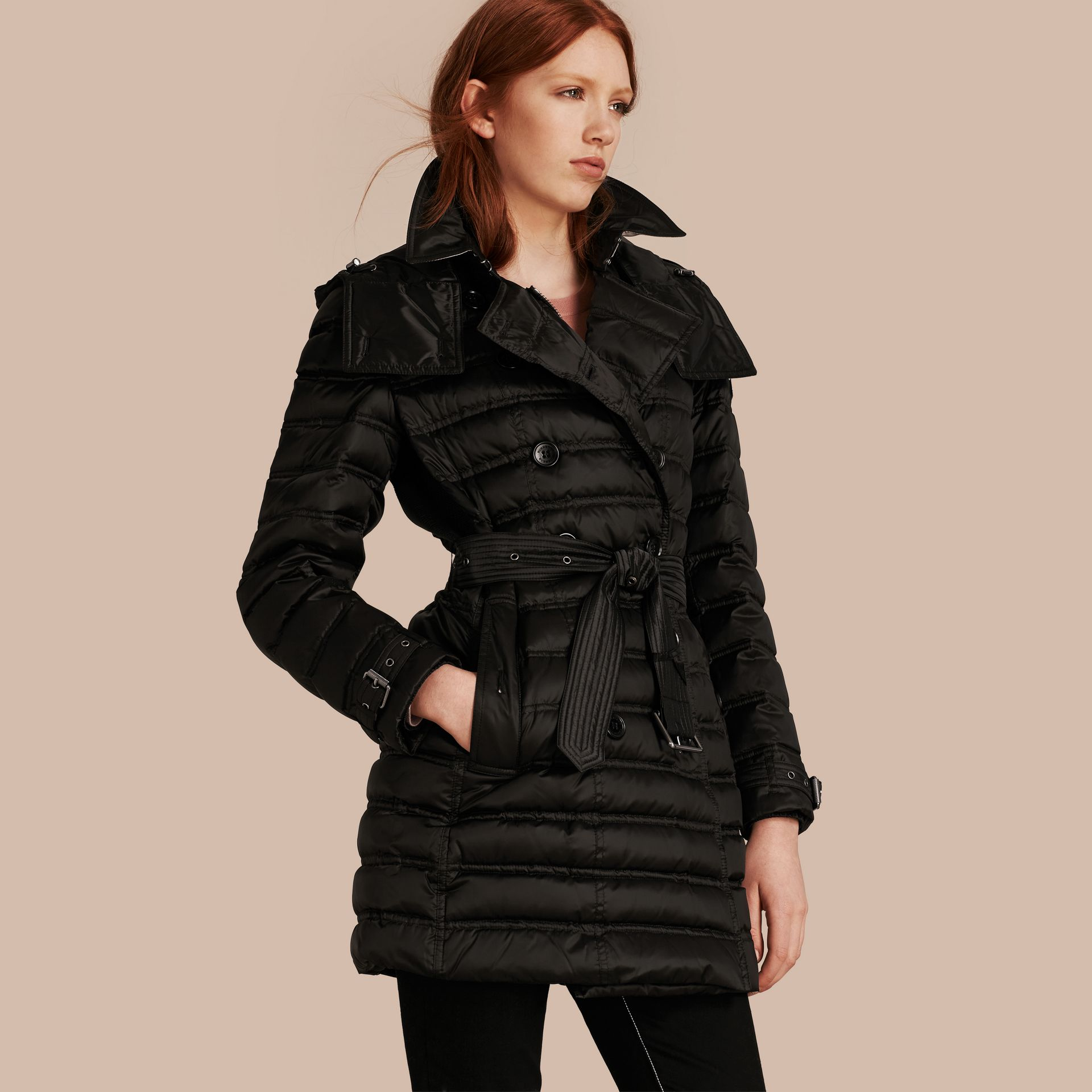 Black Down-filled Puffer Coat Black - gallery image 1