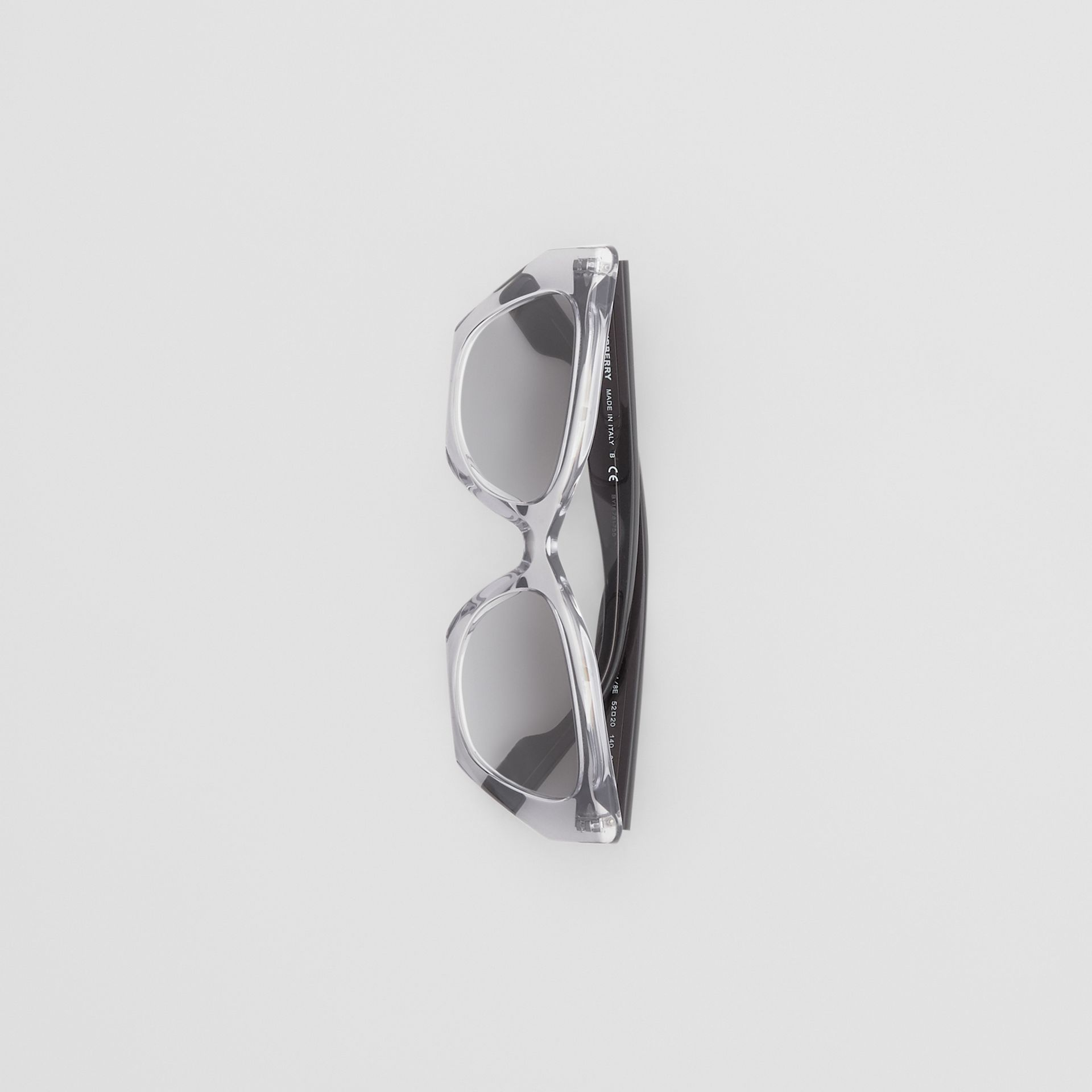 Butterfly Frame Sunglasses in Grey - Women | Burberry - gallery image 2