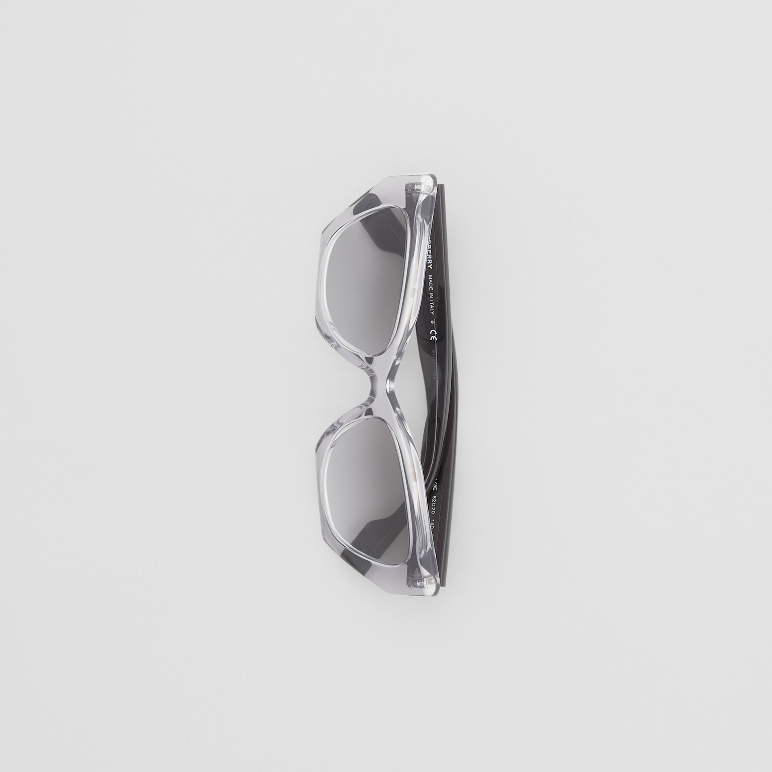 Butterfly Frame Sunglasses in Grey - Women | Burberry - 3