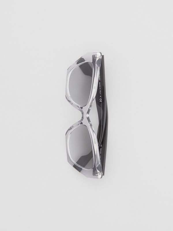 Butterfly Frame Sunglasses in Grey - Women | Burberry - cell image 2