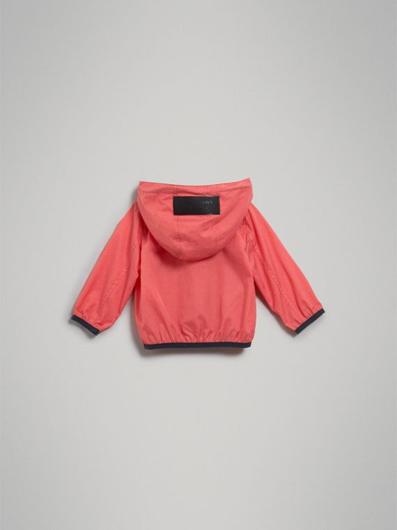 Showerproof Hooded Jacket in Bright Coral Pink | Burberry Australia - cell image 3