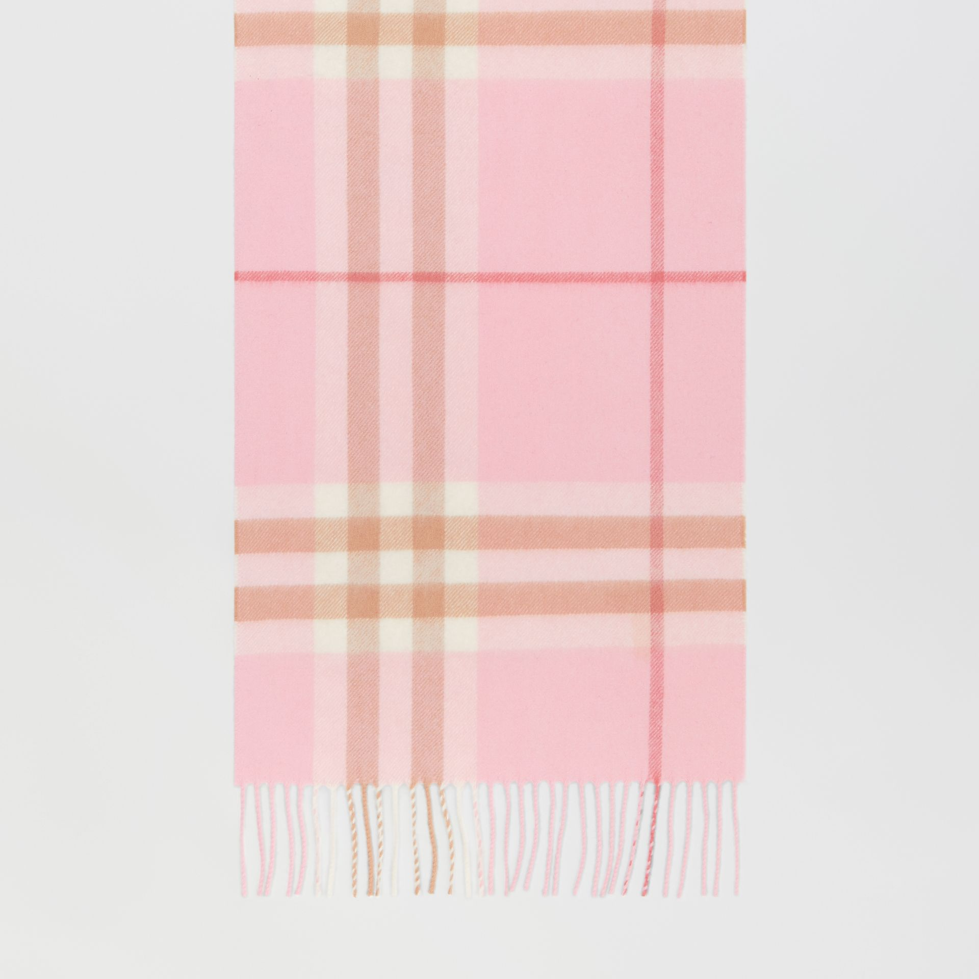 The Classic Check Cashmere Scarf in Candy Pink | Burberry - gallery image 4