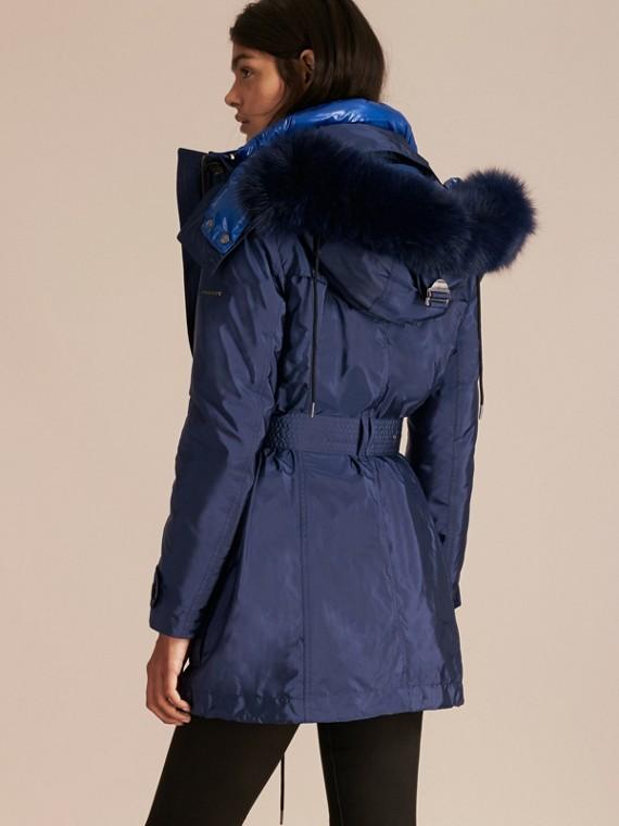 Ink blue Fur-trimmed Parka with Detachable Down-filled Jacket Ink Blue - cell image 2