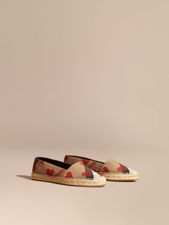 Heart and Canvas Check Espadrilles