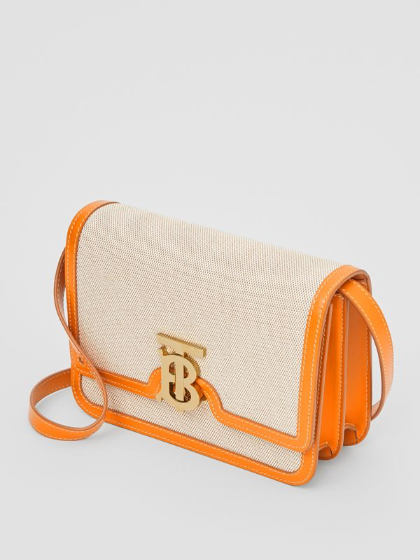 Small Two-tone Canvas and Leather TB Bag in Orange - Women | Burberry - cell image 2