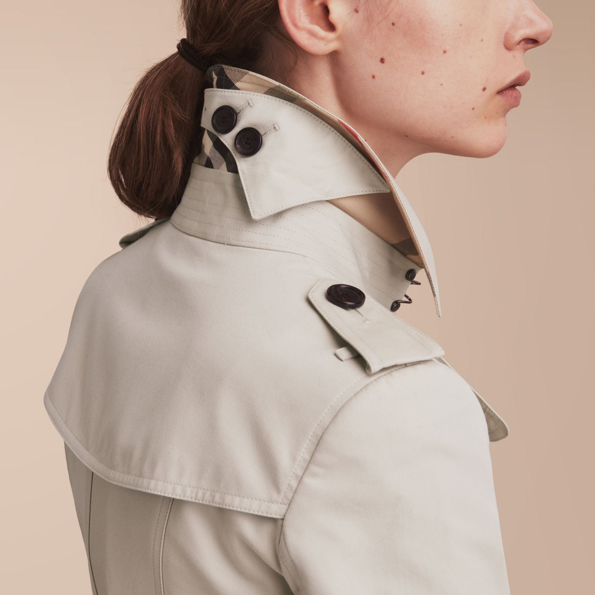The Chelsea – Short Heritage Trench Coat in Stone - gallery image 5