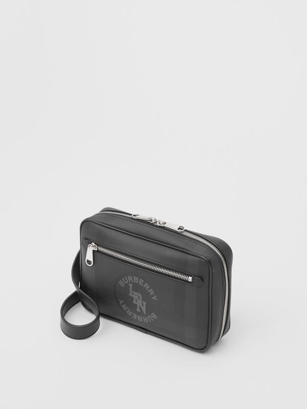 Logo Graphic London Check Crossbody Bag in Dark Charcoal - Men | Burberry - cell image 3