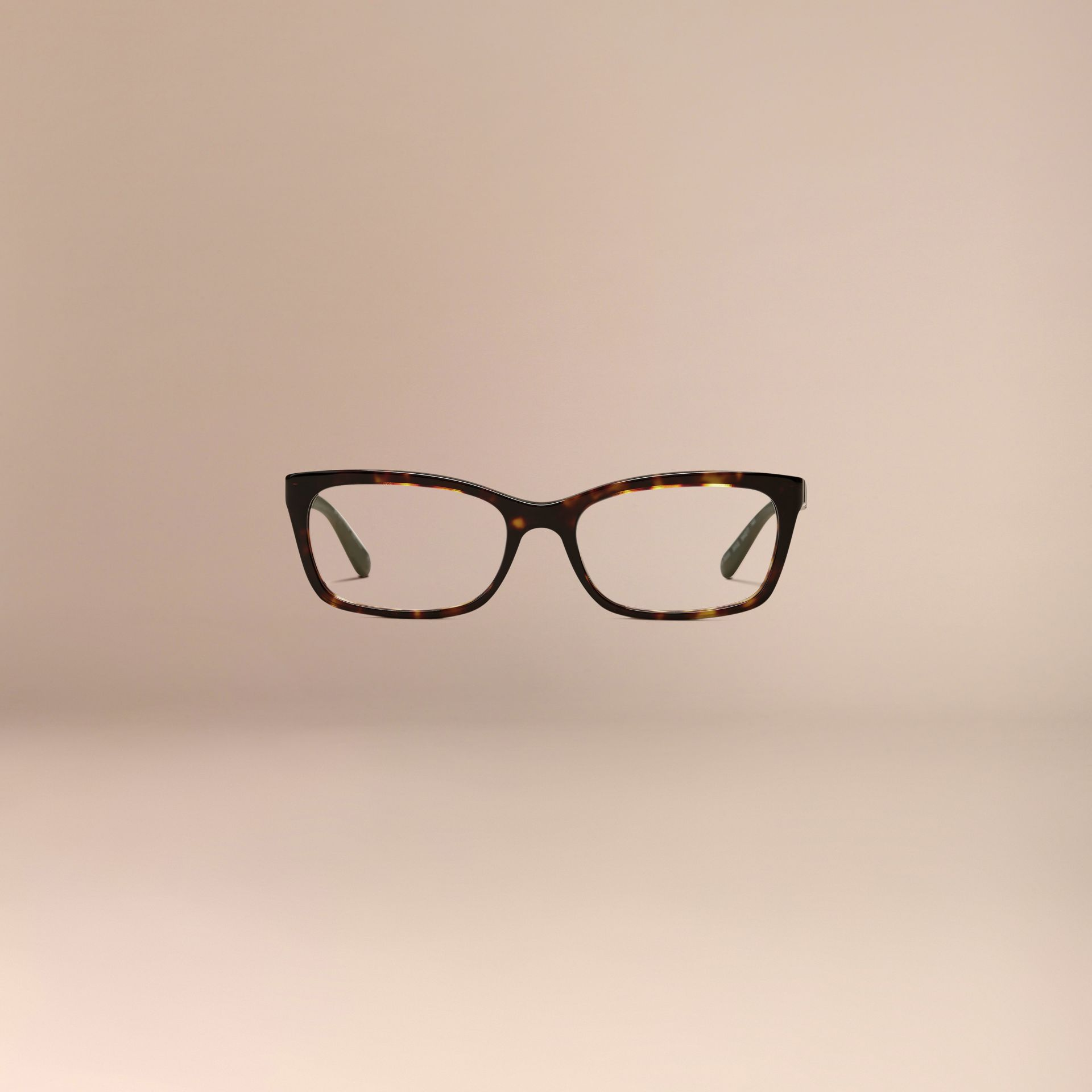 Check Detail Rectangular Optical Frames Tortoiseshell - gallery image 3