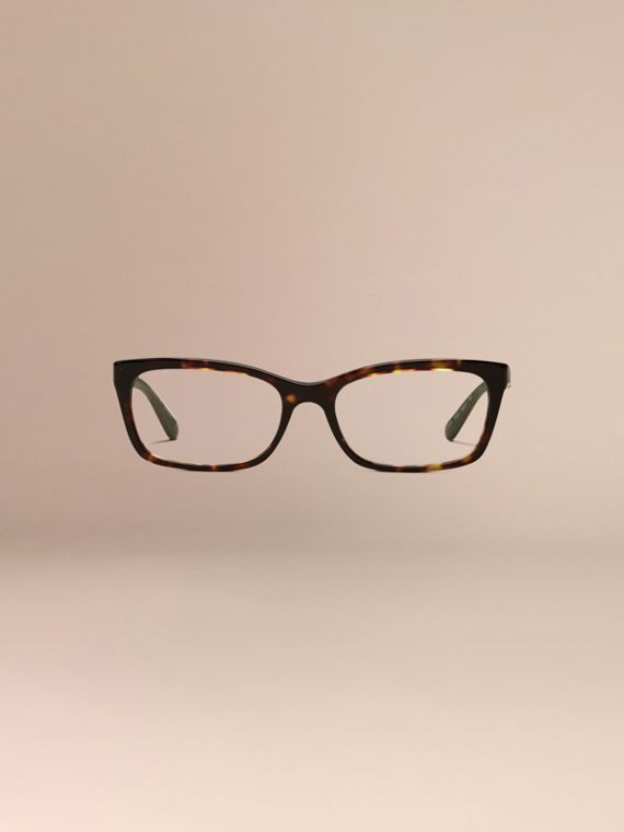 Carey Gafas de ver con montura rectangular y detalles de checks Carey - cell image 2