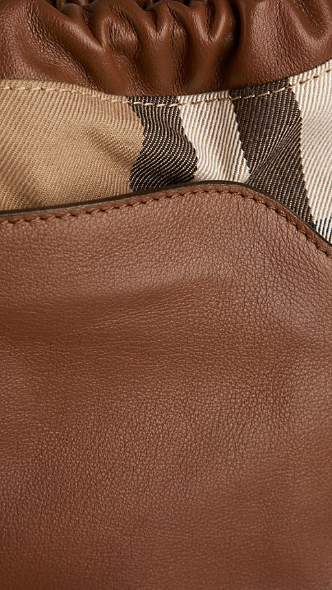 Brown ochre The Little Crush in Leather and House Check - Image 7