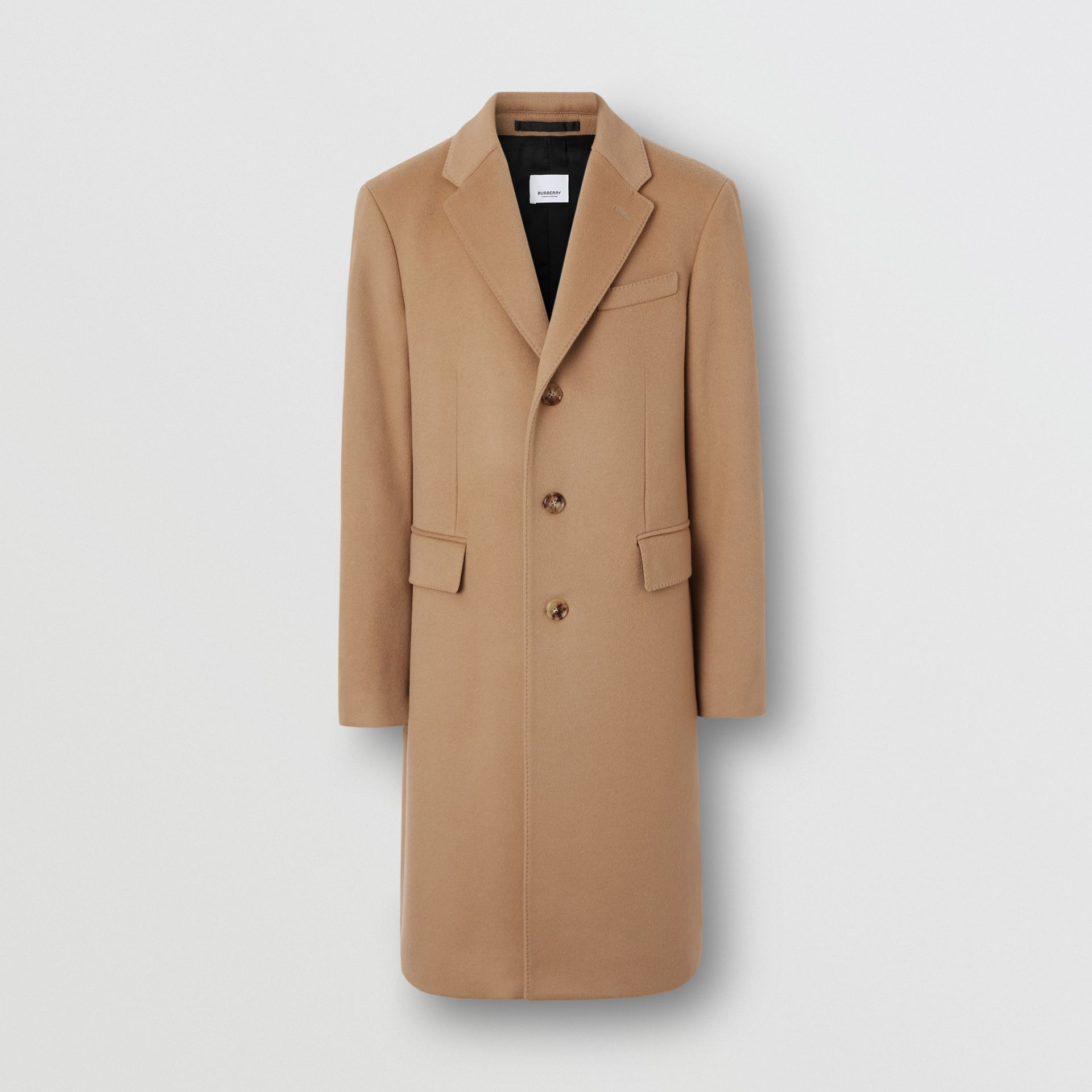 Wool Cashmere Tailored Coat in Camel - Men | Burberry Singapore - gallery image 3