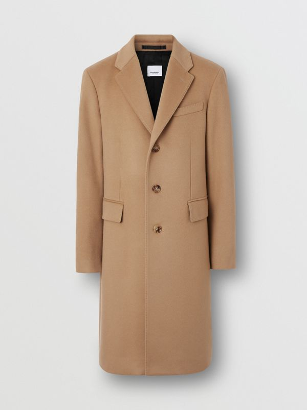 Wool Cashmere Tailored Coat in Camel - Men | Burberry Australia - cell image 3