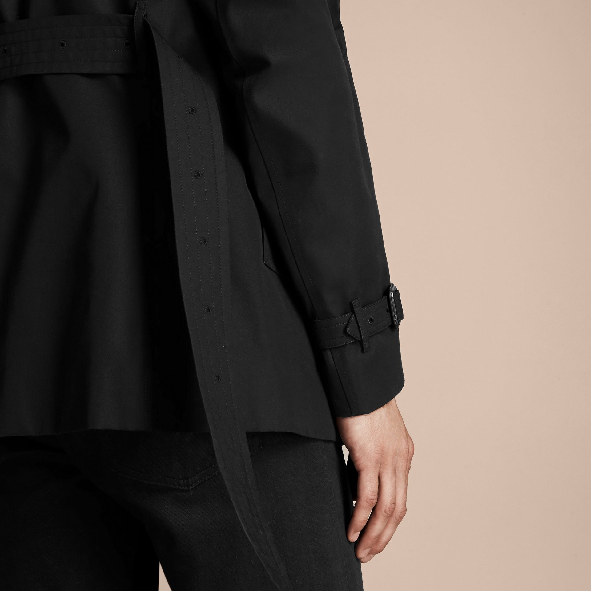 Black The Chelsea – Short Heritage Trench Coat Black - gallery image 6