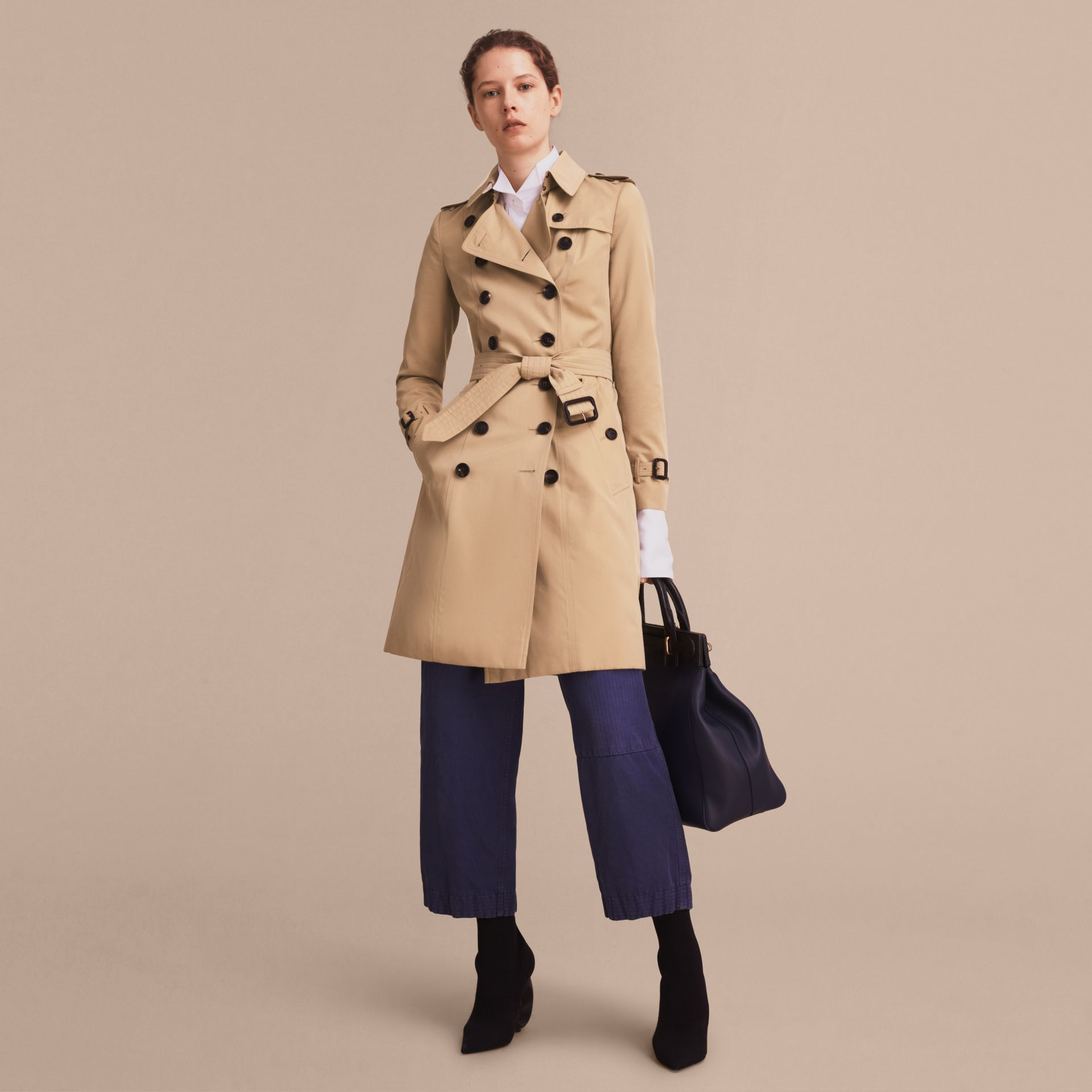 Honey The Chelsea – Long Heritage Trench Coat Honey - gallery image 8