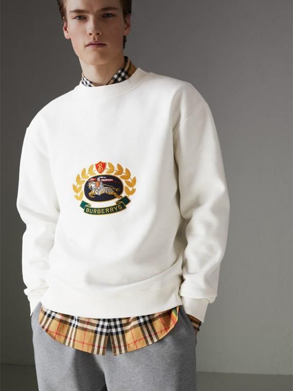 Reissued Jersey Sweatshirt in Off White